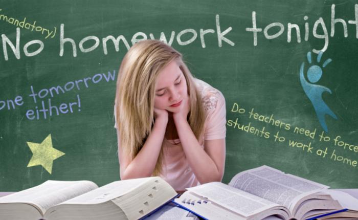 I'm a high school teacher and I no longer assign homework because. ..