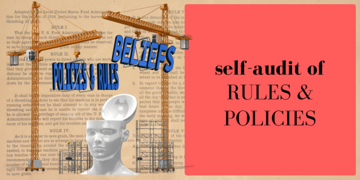 Self-Audit of Rules & Policies