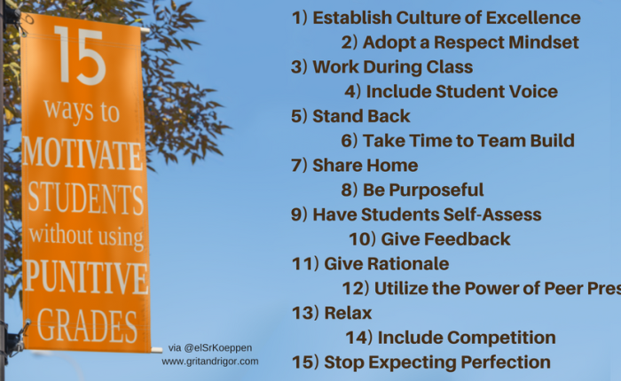 15 Strategies for Motivating Students that Don't Involve Punitive Grading